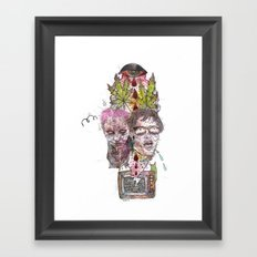 TV Party Framed Art Print