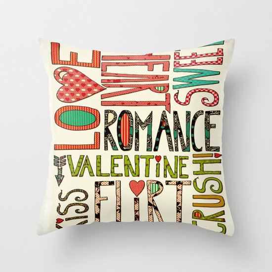 My Romantic Valentine Throw Pillow