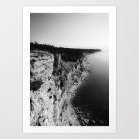 Where sea meets land Art Print