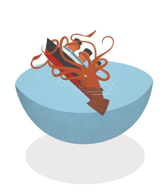 Colossal Squid! Art Print