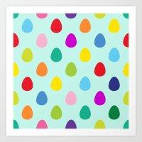 Mini Eggs Art Print