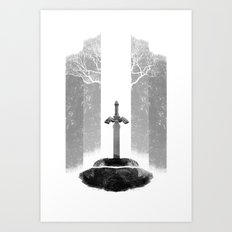 The Legend of Zelda: The Master Sword Art Print