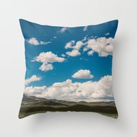 Puffy White Clouds With … Throw Pillow