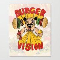Burger Vision Canvas Print
