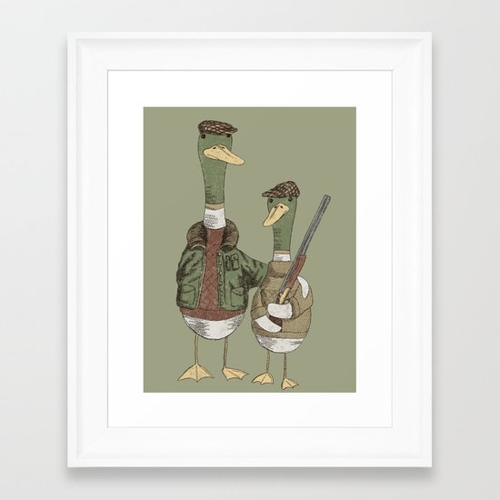 Hunting Ducks Framed Art Print