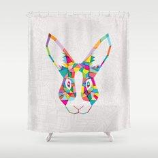 Rainbow Rabbit Shower Curtain