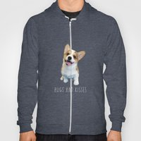 Geordi the corgi, hug and kiss Hoody