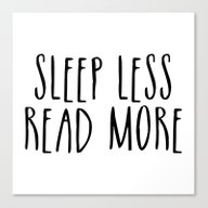 Sleep Less, Read More Canvas Print
