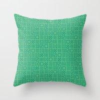 Symbol Sudoku Throw Pillow