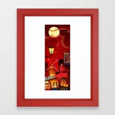 Paris in Red Framed Art Print