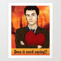 Tenth Doctor - Does It Need Saying? Art Print