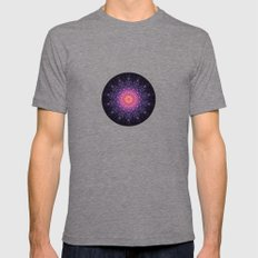 mandalA Mens Fitted Tee Tri-Grey SMALL