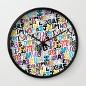 Alpha Pattern Wall Clock