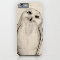 Snowy Owl Sketch iPhone 6 Slim Case