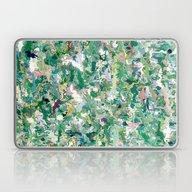 Abstract Green & Blue Laptop & iPad Skin