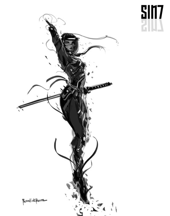 Sin7 Bleed Art Print