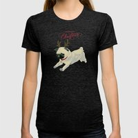 Deer Pug Womens Fitted Tee Tri-Black SMALL