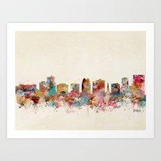 orlando florida skyline Art Print