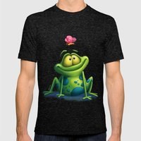 The frog Mens Fitted Tee Tri-Black SMALL