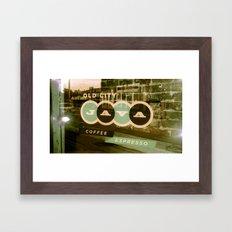 Old City Java - Mint Framed Art Print