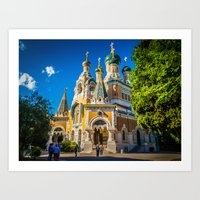 Russian Orthodox Cathedral, Nice France Art Print