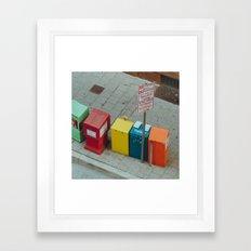 Bright City Framed Art Print