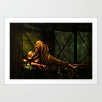 Art Print featuring The Lovers by Viggart