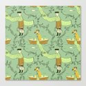 milkman pattern Canvas Print