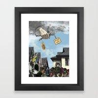 I HEAR AMERICA SCREAMING… Framed Art Print