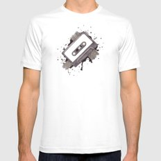 Cassette SMALL White Mens Fitted Tee