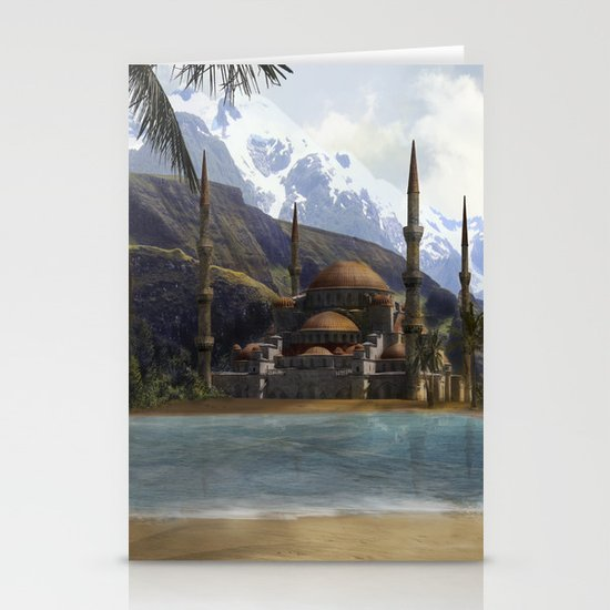 Hidden in the Mountains Stationery Card