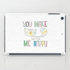 make me happy iPad Case