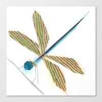 Canvas Print featuring Lula B. Dragonfly by Darrah Gooden