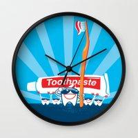 Teeth on Parade Wall Clock