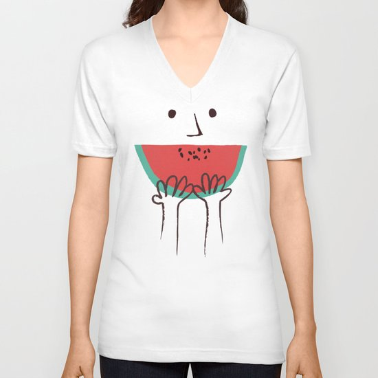 Summer smile V-neck T-shirt