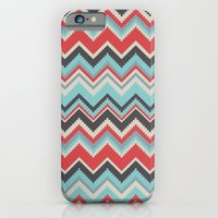 Aztec chevron pattern- grey iPhone 6 Slim Case