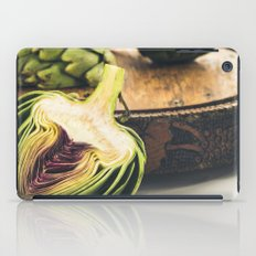 Artichokes On Old Cutting Board iPad Case
