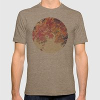 Hello Autumn  Mens Fitted Tee Tri-Coffee SMALL