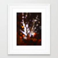 Tree Bokeh Framed Art Print