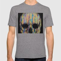 Psychedelic Skull Mens Fitted Tee Tri-Grey SMALL