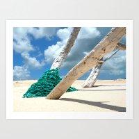 Aqua Net Art Print