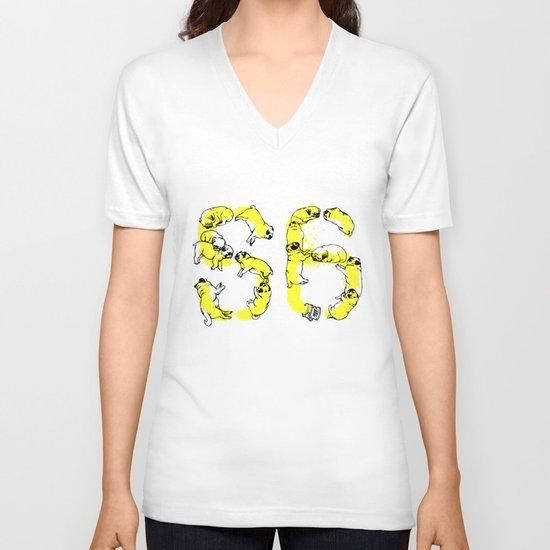 Pugs Prank V-neck T-shirt