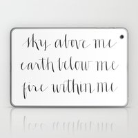 Fire Within Me Laptop & iPad Skin