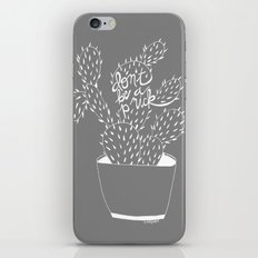 cactus in white iPhone & iPod Skin