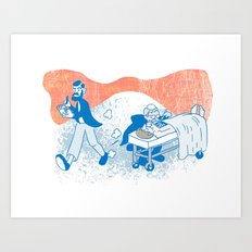 Freud and Halsted Art Print