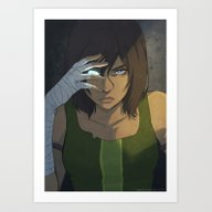 Avatar Glitch Art Print
