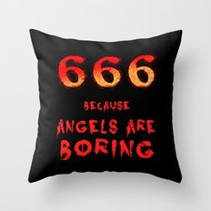 666 Throw Pillow
