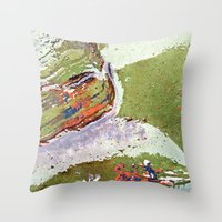 Auto Abstract Throw Pillow