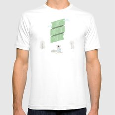 Don´t Stop Me Now White SMALL Mens Fitted Tee