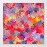 Confetti(colorful). Canvas Print